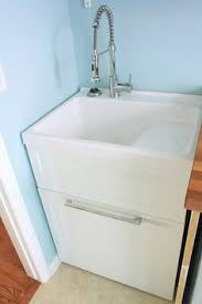 Faucet For Utility Sink Tuscany Laundry Tub Cabinet Kit Complete With Faucet And Pullout