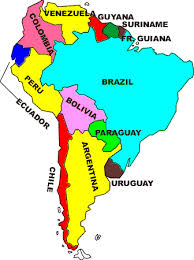 south america map map of south america wintery