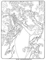 alfons mucha art nouveau free coloring pages u2013