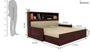 Savannah Sofa Cum Bed With Storage King Size Mahogany Finish - Sofa bed dimensions