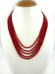 color crystal necklace images Buy aradhya five layer red colour crystal beads necklace for women jpg