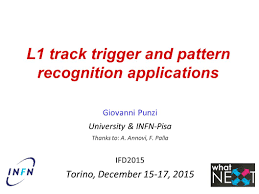 l1 track trigger and pattern recognition applications giovanni
