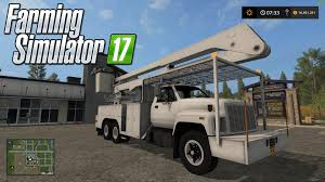 c70 truck fs17 gmc topkick bucket truck v1 0 farming simulator 2017 2015