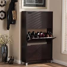 shoe cabinet dark brown wood shoe storage closet storage