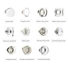 Emtek Glass Cabinet Knobs Emtek 8000 Door Hardware Crystal Knobs With Threaded Rod