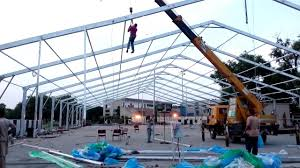 30 meter 100 feet marquee tent frame installation by mr rizwan