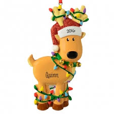 moose and reindeer ornaments personalized ornaments
