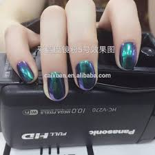6 colors pigments holographic uv gel nails pigment powder for gel