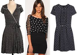 look sweet and pretty in a retro modern polka dot dress u2013 short