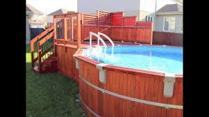 piscine sur pilotis deck de piscine hors terre en cèdre isabelle à pierrefonds