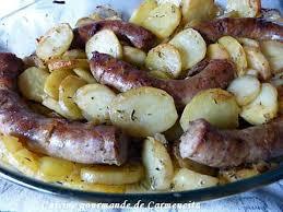 recette de saucisse de toulouse confite et pommes de terre fondantes