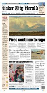 Elgin Oregon Wildfire by Baker City Herald Daily Paper 08 14 15 By Northeast Oregon News