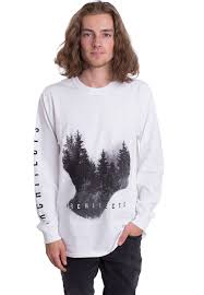 architects forest white longsleeve official metalcore