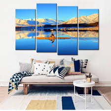 popular snow mountain landscape buy cheap snow mountain landscape 4 panels home decor drop shipping snow mountain landscape canvas wall art painting for living room