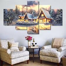 home interiors kinkade prints kinkade cottage home decor hd printed modern