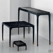 narrow glass console table hollywood thing