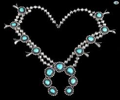vintage turquoise silver necklace images Estate jewelry ethnic native american trocadero jpg