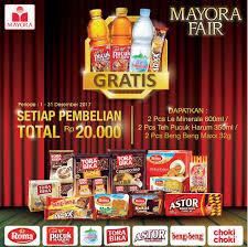 Teh Pucuk Harum Di Alfamart alfamart promo mayora fair gratis produk mayora pilihan