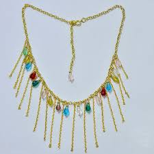 make gold chain necklace images Tassel chain necklace making with colorful glass beads jewelry jpg