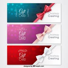 christmas gift cards vector premium download