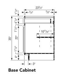 kitchen base cabinet depth half depth shelves