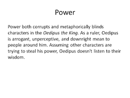 Oedipus Blinds Himself Oedipus Questions In What City Does The Play Take Place Ppt