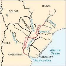parana river map paraná river location students britannica homework help