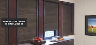 shades u0026 blinds for media rooms distinctive window fashions