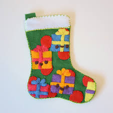 Christmas Stocking Decorations How To Make A Felt Applique Christmas Stocking