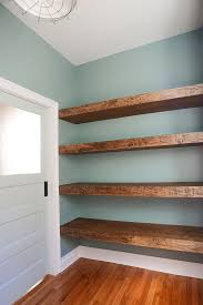 Wood Storage Shelf Designs by Diy Floating Wood Shelves In The Workshop Via Yellow Brick