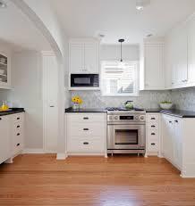 herringbone tile backsplash kitchen contemporary with breakfast