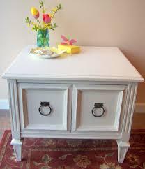 white vintage coffee table vintage side table in navajo white urban farmhouse finishes