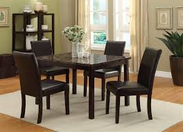 5 Piece Dining Room Sets by Pompei 5 Piece Dining Set In Dark Brown Finish By Crown Mark 2377