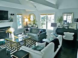 TerrificBlackAndWhiteStripedRugdecoratingideasforFamily - Black and white family room