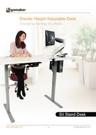 Adjustable Sit Stand Desk by Ergonomic Electric Height Adjustable Sit Stand Desk And Accessories