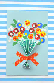 mothers day card floral handmade s day card diycandy