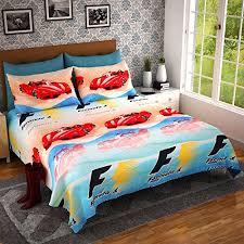 dream weaverz home decor fine quality cotton car print queen size