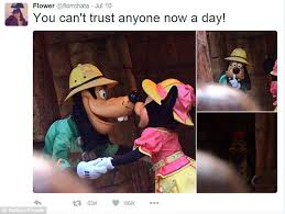 Goofy Meme - minnie mouse cheats on partner mickey with his best friend goofy in