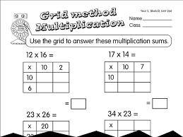 grid multiplication a year 4 multiplication worksheet
