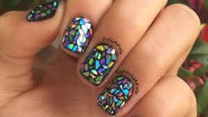 shattered glass nail art is the hottest trend on the internet