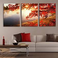 canvas set classic realism three panels horizontal print wall