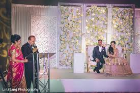japanese wedding backdrop sweetheart stage in jersey city new jersey indian wedding by lina