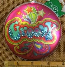 hippie christmas ornaments hippie love peace sign retro glass
