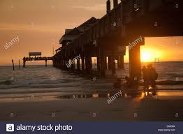 sunset at pier 60 at clearwater beach fl stock photo royalty