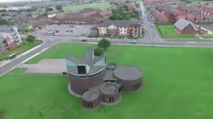 watch as distinctive teesside church bites the dust after 47 years