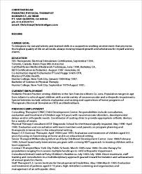 physical therapist resume sle physical therapist resume 8 exles in word pdf
