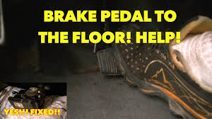 sinking spongy brake pedal with abs system nothing works watch