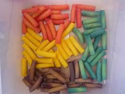 rainbow pasta threading necklaces the imagination tree