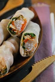cuisine crevette rouleaux de printemps au poulet et crevette recette tangerine zest
