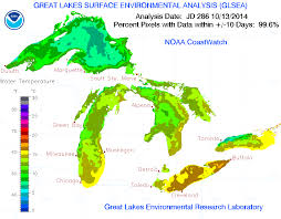 Map Of Michigan Lakes by Lake Michigan Temperature Map Michigan Map
